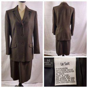 Le Suit Women's 2 Piece Skirt Suit Set - Size 14